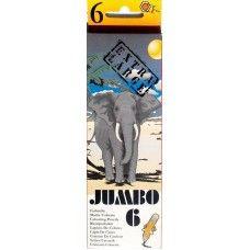 6 darabos, vastag, natúr, színes ceruza készlet JUMBO - Színes ceruzák - 569Ft - Színes ceruza készlet