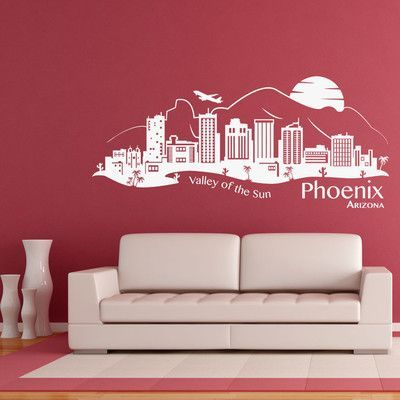 Style and Apply Phoenix Skyline Wall Decal Color: Golden Yellow