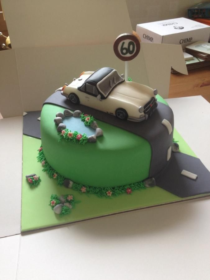 MG Midget Car Cake - Cake by Julie Anderson                                                                                                                                                                                 More
