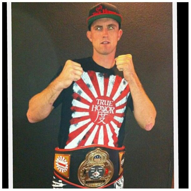 Caesar Gracie Soldier, Nick And Nate Diaz's Protege, Art of War Middle Weight Champion... And Officially Team True Honor all day! Purchase this design here http://www.truehonor.com/mens/shirts/rising-sun-mens-t-black