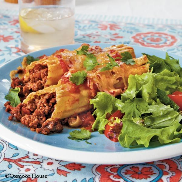 Gooseberry Patch Recipes: Melinda's Mexican Manicotti from Everyday Simple Suppers
