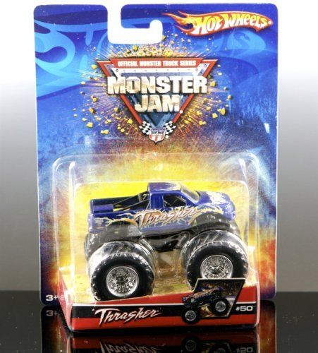 THRASHER Hot Wheels Monster Jam Truck 1:64 by Mattel. $19.55. Official Monster Truck Series Monster Jam Truck. Perfect for any Monster Truck Fan!. 1:64 Scale. Collectible Mattel Brand Hot Wheels Monster Jam Truck THRASHER. Brand-new in package! AWESOME!!