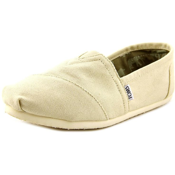 New Mens Toms Classics Round Toe Canvas Tan Loafers In Box Size 10 FREE SHIPPING #Toms #LoafersSlipOns