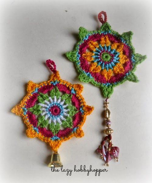 Crochet ornament - free pattern (The Lazy Hobbyhopper)