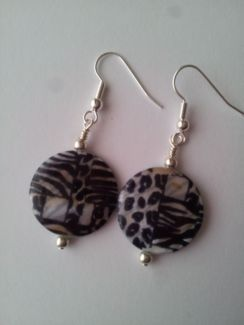 Painted shell earrings advertised on Gumtree - $10 a pair.