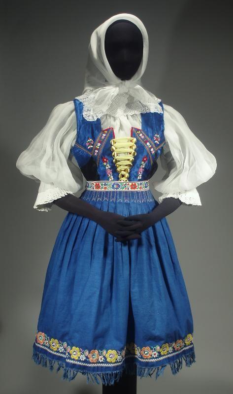 Slovak Folk Costume Ethnic Outfit Embroidered Blouse Vest Skirt Apron Shawl Kroj | eBay