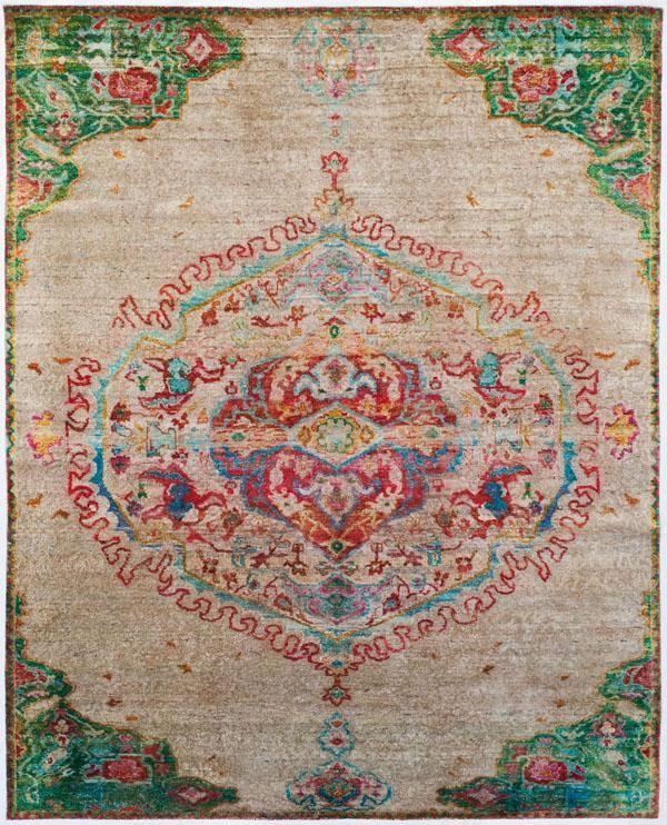 Aquasilk collection using recycled vintage saris - ABC Carpet & Home