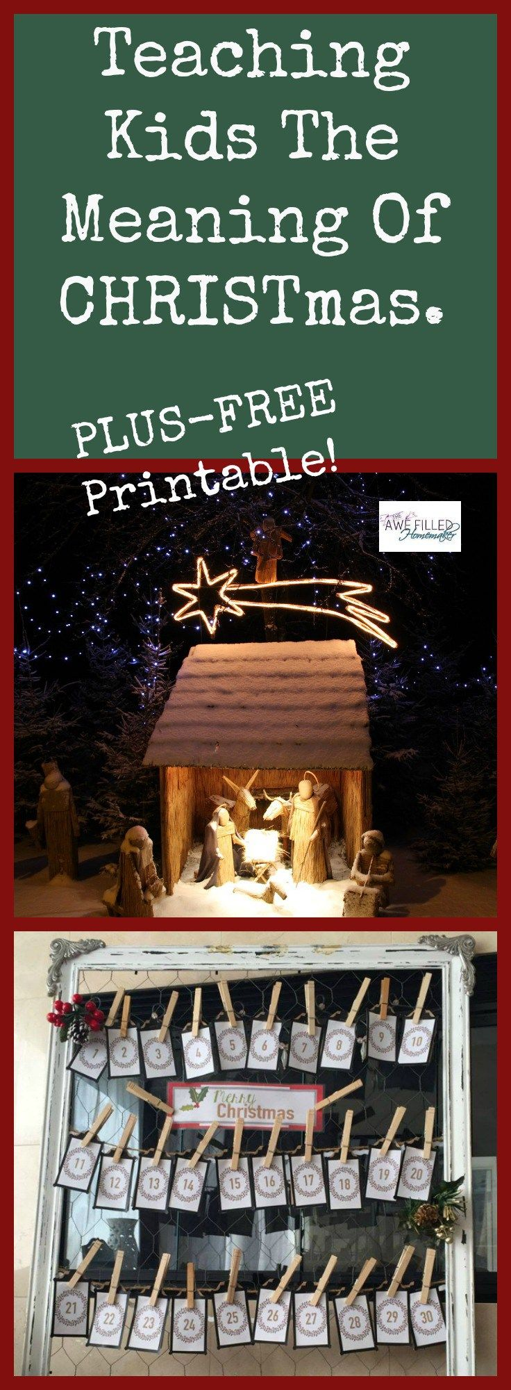 Teaching kids the real meaning of Christmas. How to keep CHRIST in Christmas.