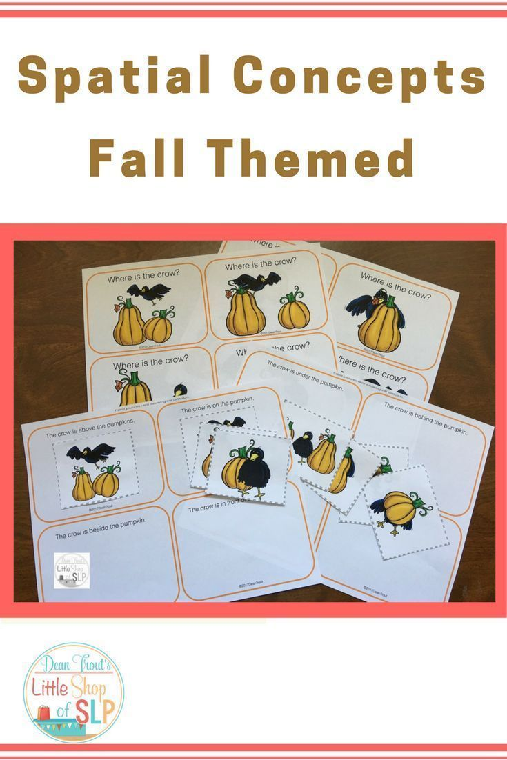 This Is A Quick And Easy Activity To Target Early Spatial Concepts With A Fall Theme Along With Th Spatial Concepts Speech Language Activities Fall Vocabulary [ 1102 x 735 Pixel ]
