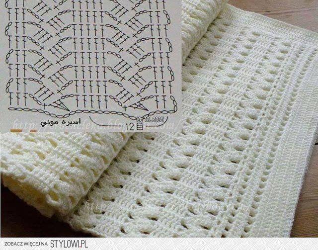 19 mejores im genes sobre mantas y colchas de ganchillo en - Esquema punto estrella crochet ...
