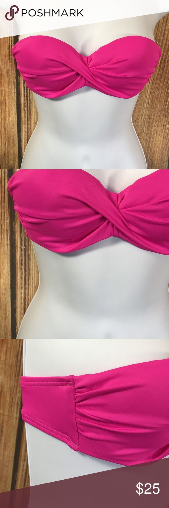 "Victorias Secret Swim The Knockout Bandeau Push Up Victorias Secret Swim The Knockout Bandeau Push Up Hot Pink Bikini Top 32A  Victoria's Secret Swimwear  The Flirt Bandeau Top  Padded  Underwire  Back hook at mid back strap  Hot Pink  NO NECK STRAP  Size 32A  New without tags  Our Victoria's Secret items are overstocks or customer returns, most are new without tags, some items are ""new with retail tags"" and will be listed accordingly.  Per the VS resale policy, Victoria's Secret brand…"