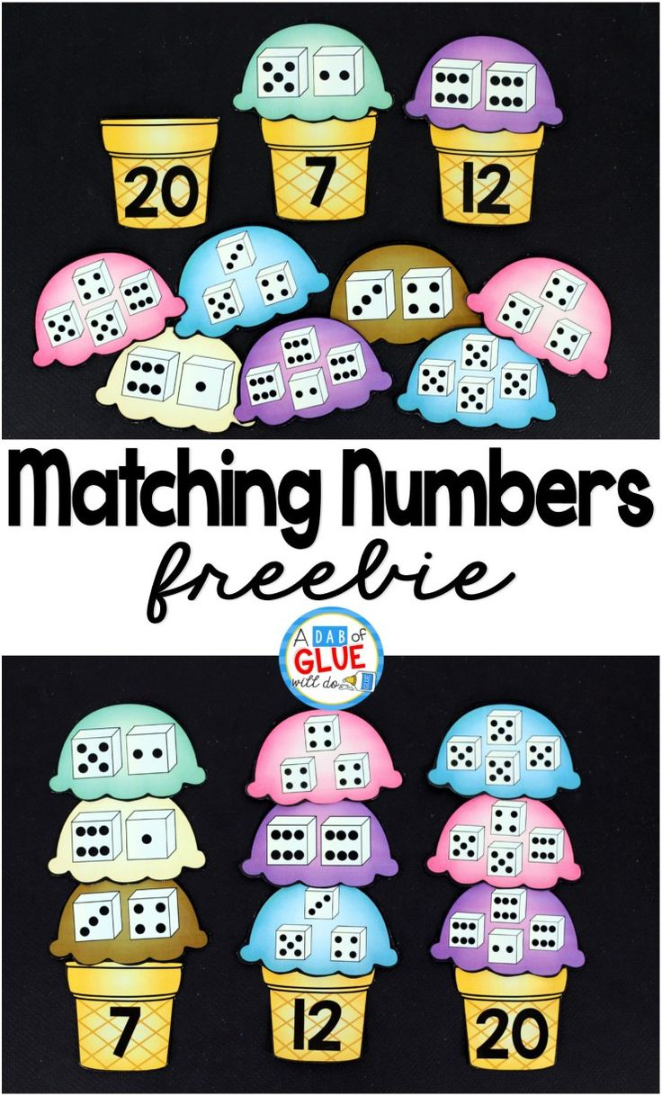 Math can be very difficult and frustrating for some children. Because of this, it is important to have FUN, hands-on activities for students. These activities can be used to help introduce, teach, and/or review important concepts that are being taught. These Matching Numbers with Ice Cream are perfect to use in your classroom to help students continue to practice numbers and counting.