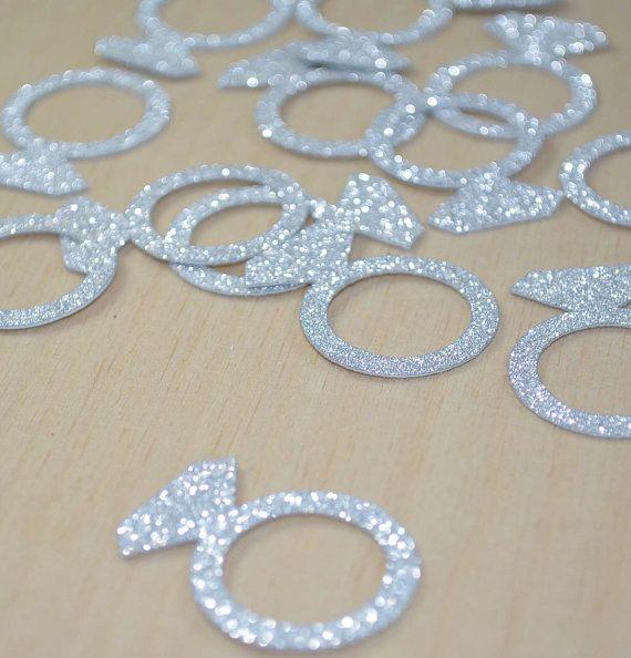 JUMBO Bling Diamond Engagement Ring CONFETTI by PartyMadePretty