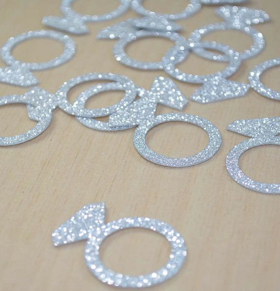 JUMBO Bling Diamond Engagement Ring CONFETTI for bridal showers, bachelorette…