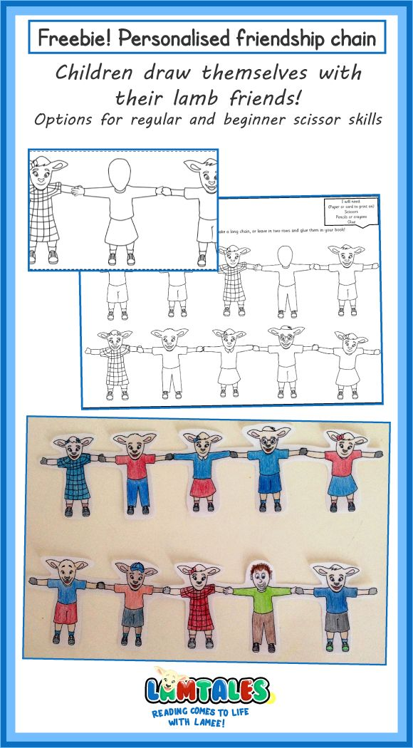 Classroom activity for learning about friendship. Hands-on lesson for children…