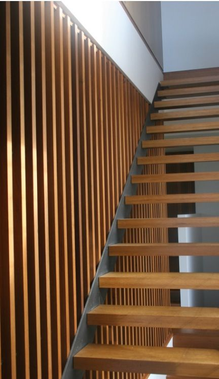 If we can't do the floating stair tread, this is EXACTLY how I want my stairs