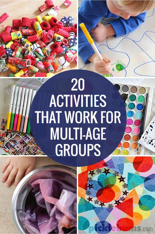 20 Activities for Multi-Age Groups from @katepickle picklebums.com