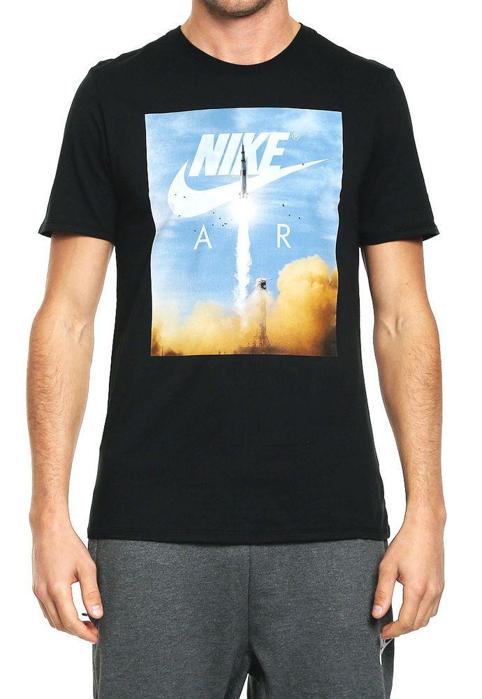 cec3d118fe739 Nike Camiseta Men's NSW Air Rocket T-Shirt Size M Black #Nike #GraphicTee  #TShirts
