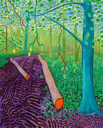 This painting always comes to mind when I think of David Hockney - I loved the exhibition of his work I saw a couple of years ago at Royal Academy of Arts