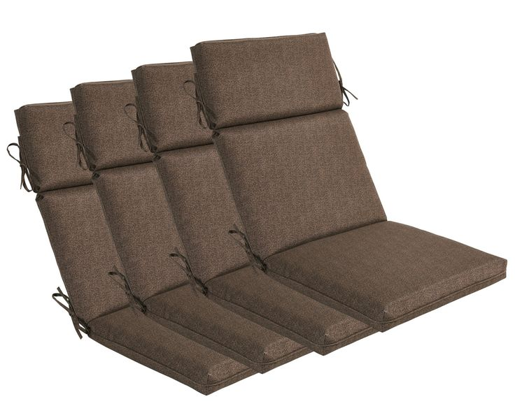 Bossima indoor outdoor high back chair cushions
