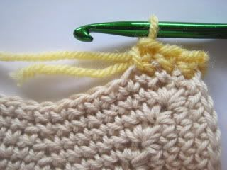 """Weaving in Ends:  """"When changing yarn or attaching a new skein to a project you can easily hide the ends while you are crocheting without stopping and using a needle..."""""""
