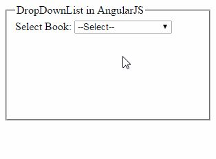 AngularJS: Bind DropDownList and Get Selected Item Value and Text http://www.webcodeexpert.com/2016/07/angularjs-bind-dropdownlist-and-get.html  In this article I am going to explain how to populate HTML dropdown list using ng-options in AngularJs and get selected item value and text.