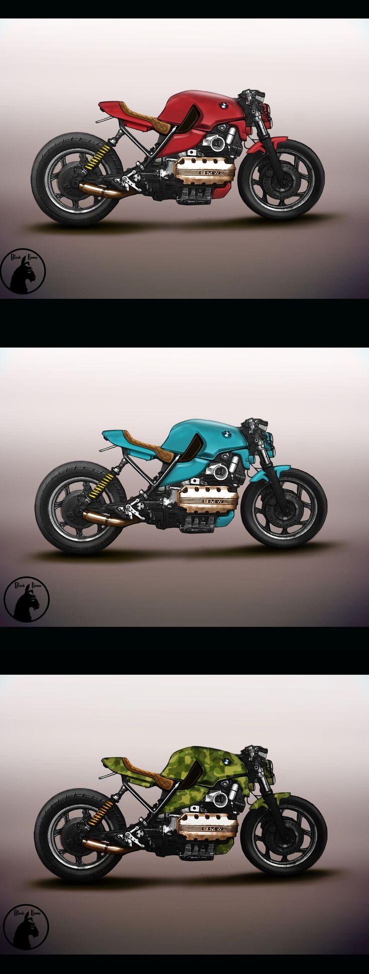 Bmw  color edit. Black Llama Design.