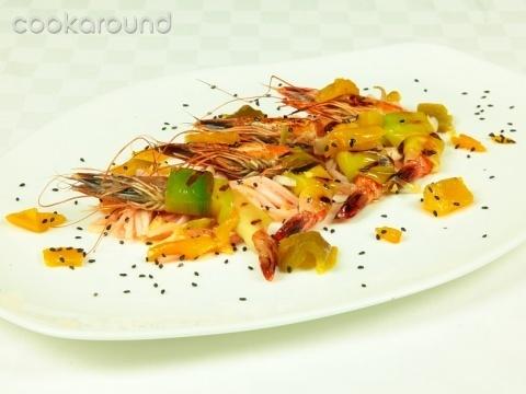 Gamberi con porro e belga agli aromi: Ricette di Cookaround | Cookaround