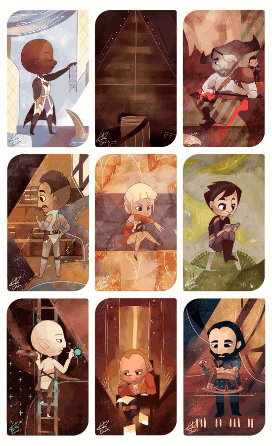 Dragon age inquisition, Vivienne, Dorian, Slas, Cole, sera, Varric, Iron Bull, Blackwall, Cassandra