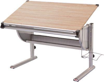 #Unisex #Schreibtisch, #THORE, #Sonoma / #Eiche #holzfarben Der praktische Schreibtisch THORE verfügt über alle Funktionen, die ein moderner Schreibtisch haben sollte. Er ist höhen- und neigungsverstellbar, das ermöglicht es, den Schreibtisch perfekt auf die Bedürfnisse Ihres Kindes anzupassen und eine ergonomische Sitzhaltung zu begünstigen. Für Stifte, Bastel- und Schreibsachen besitzt der Tisch eine Ablagerille, welche auch bei geneigter Tischplatte das herunterkullern von Stiften…
