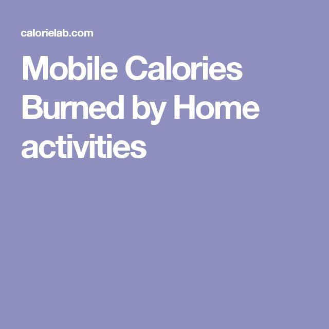 Mobile Calories Burned by Home activities