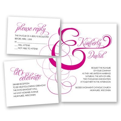 Elegant Ampersand - Bundle Basic Wedding Invitation Set - Inexpensive at Invitations By David's Bridal