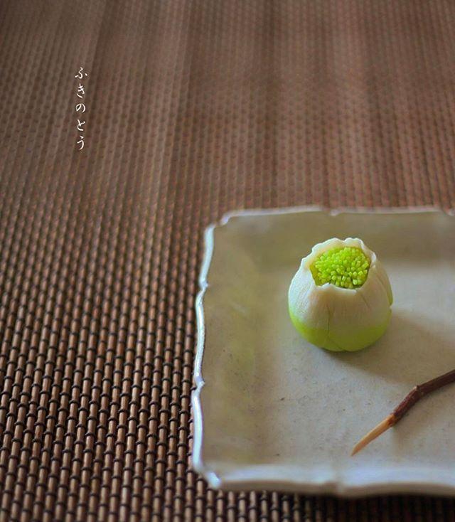 . Today, I made japanese confectionery NERIKIRI which express spring Vegetables 、Butterbur sprout ▫️▫️▫️▫️▫️▫️▫️▫️▫️▫️▫️▫️▫️▫️▫️▫️. おはようございます☀ . ここ二、三日、風邪はまだまだ冷たいけど、 ぐっと春の気配を感じますね . 今日のおやつは、 よく見かける意匠で、可愛らしいので以前から作ってみたかった、 ふきのとうの形の練り切りを作りました。 中身は自家製こしあん (ふきのとうの天ぷら、、ほろ苦くて美味しいですよねー . ぶふふっ、 ちょっとおデブなふきのとうになっちゃったっ. . 久しぶりにお抹茶を点てて戴きました . ▫️▫️▫️▫️ ▫️▫️▫️▫️▫️▫️▫️▫️▫️▫️▫️▫️▫️▫️▫️▫️▫️▫️▫️▫️▫️▫️▫️▫️▫️▫️#クッキングラム#煉切#練り切り#ねりきり#nerikiri#上生菓子#おやつ#和菓子#上生菓子#器#テーブルセッティング#japaneseconfectionery#...