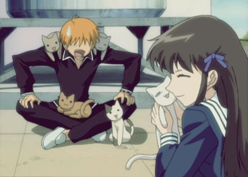 kyo and tohru lol fruits basket :3