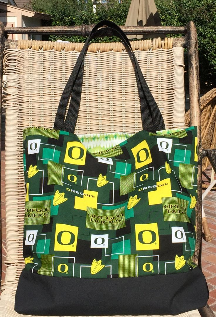 Oregon Ducks Tote Bag, Custom Purse, Cotton Purse, College Sports, Market Bag, Shopping Bag, Graduation Gift, Book Bag, Birthday Gift by designsbyfancyrose on Etsy