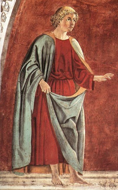Profeta Ezechiele, Пьеро делла Франческа, 1458 - Базилика Сан-Франческо в Ареццо.