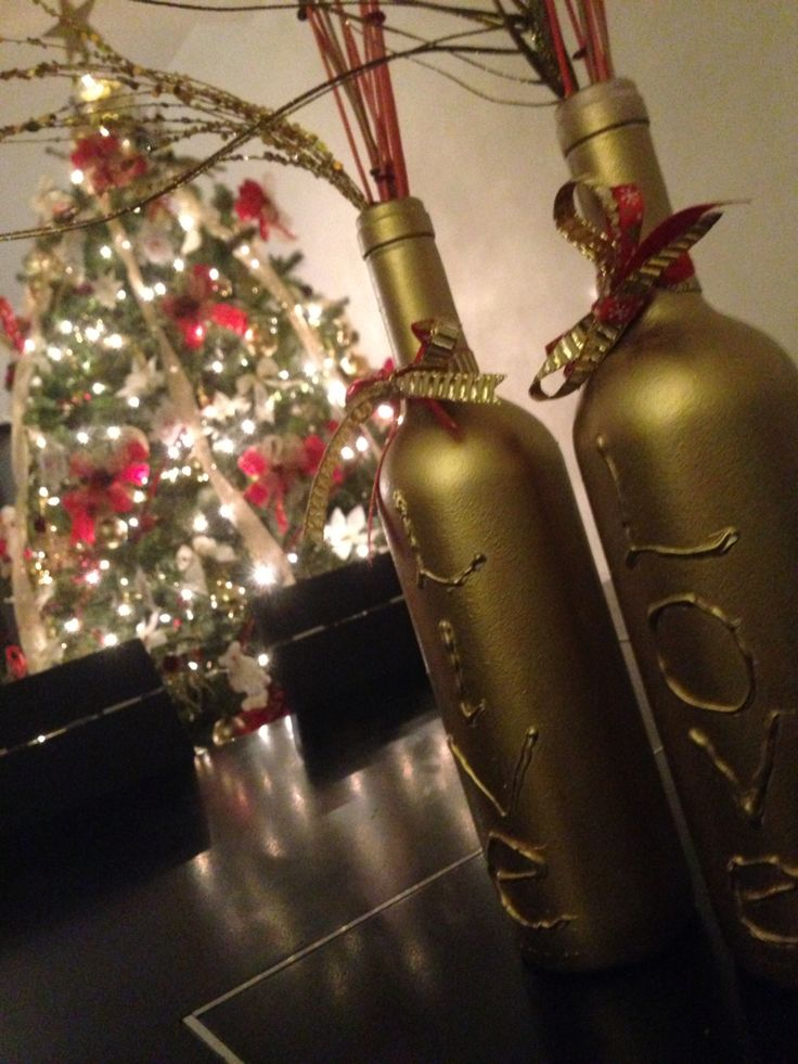 17 best ideas about botellas decoradas para navidad on for Botellas de vidrio decoradas para navidad