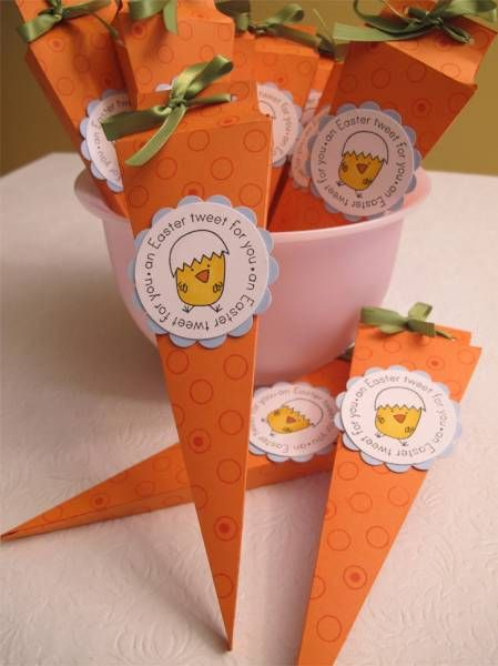 Carrot Easter Favors by shltzmom3 - Cards and Paper Crafts at Splitcoaststampers