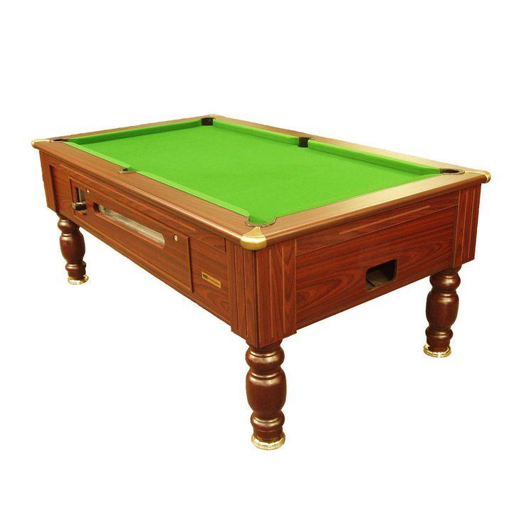 Richmond Coin Operated Pool Table - Mahogany