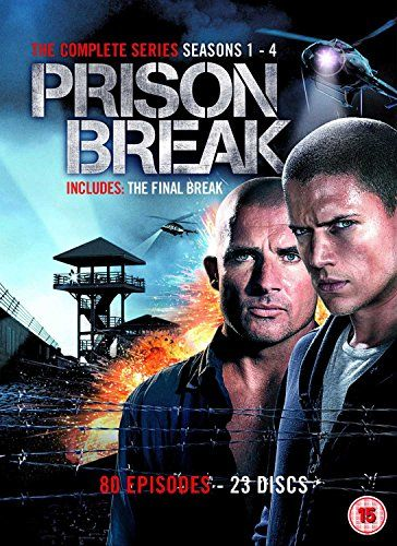 Prison Break (Complete Seasons 1-4) - 23-DVD Box Set ( Prison Break - Seasons One, Two, Three & Four (80 Episodes) ) [ NON-USA FORMAT, PAL, Reg.2 Import - United Kingdom ]:   United Kingdom released, PAL/Region 2 DVD: it WILL NOT play on standard US DVD player. You need multi-region PAL/NTSC DVD player to view it in USA/Canada: LANGUAGES: English ( Dolby Digital 5.1 ), English ( Subtitles ), WIDESCREEN (1.78:1), SPECIAL FEATURES: Box Set, Cast/Crew Interview(s), Commentary, Deleted Sce...