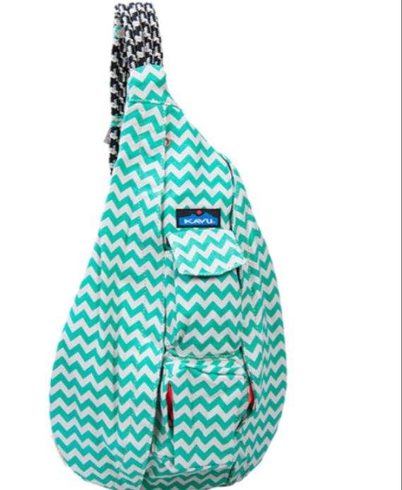 Kavu bag light blue chevron