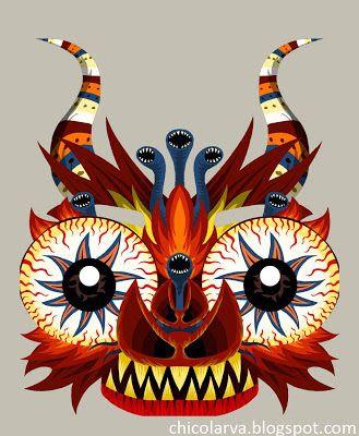 Máscara 1 | El Inofensivo Chico Larva