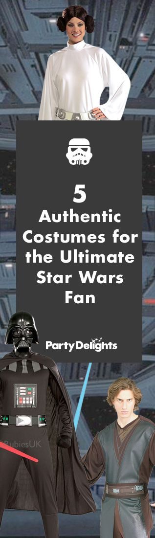 Dress up as your favourite Star Wars character with these authentic Star Wars costumes - ideal for a realistic transformation into a Sith lord or Jedi warrior!