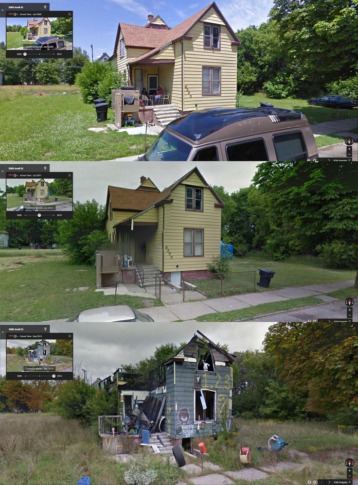 Intense Before-and-After Google Street View Pictures Perfectly Capture Detroit's Decline - PolicyMic
