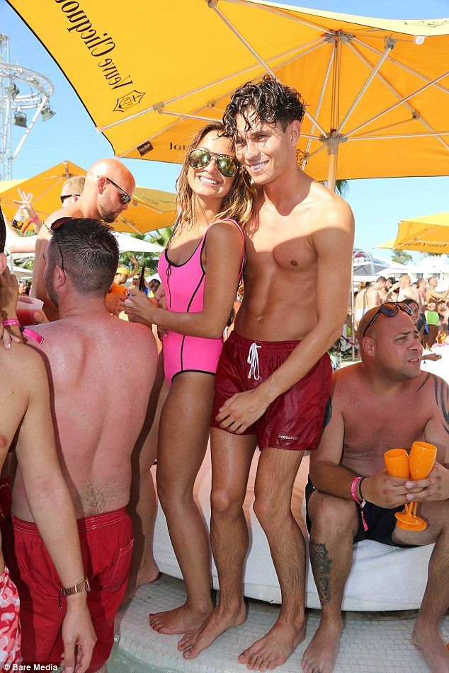 Fun in the sun: Sam Faiers and her boyfriend Joey Essex looked happier than ever as they j...