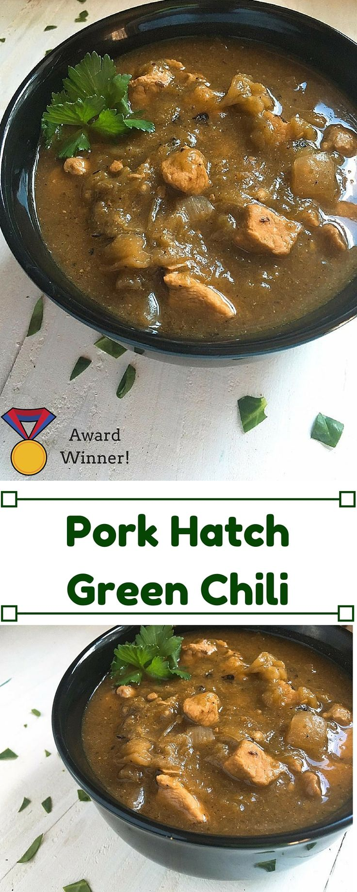 Pork Hatch Green Chili - Quality ingredients makes this the star of the show. It has won multiple cook-off contests and a staple in the menu rotation! Hatch green chile peppers are stewed with pork, onion, and seasonings for a fall comfort food favorite. Make it spicy hot or mild and best served with white rice. Pork Hatch Green Chili | Three Olives Branch | www.threeolivesbranch.com