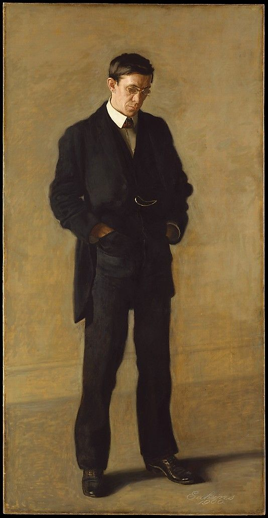 The Thinker: Portrait of Louis N. Kenton Thomas Eakins  (American, Philadelphia, Pennsylvania  1844–1916  1900 Oil on canvas    82 x 42