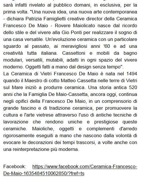 Ceramica Francesco De Maio #roveremaiolicato #Arkeda2015 Tratto da Paperblog