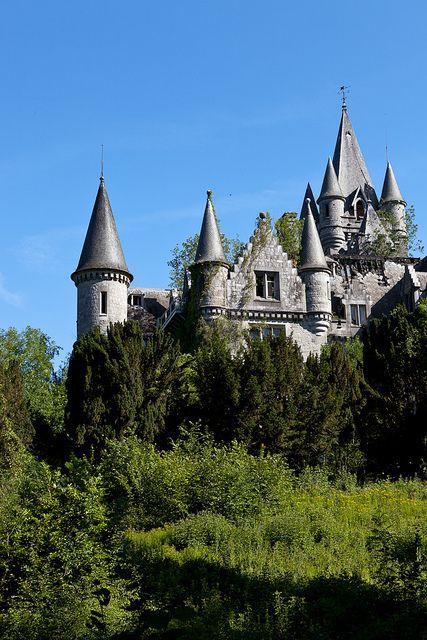 Hidden behind the trees -  Chateau de Noisy in Belgium - by Bart Boeyen
