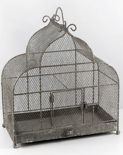 "Decorative Bird Cages Large 17"" Metal Cage $55  17"" tall x 9"" deep x 17"" long."